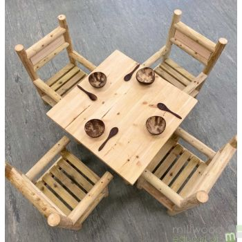 Indoor Table and Four Chair Set