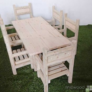 Indoor Table and Six Chair Set