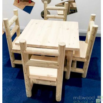 Indoor Table and Four Chair Set (without arms)