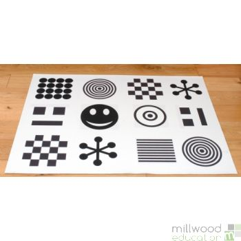 White & Black Mat