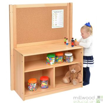 Bookcase with Solid Back & Cork Divider