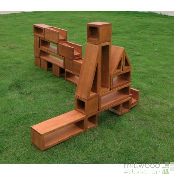 Outdoor Hollow Wooden Blocks
