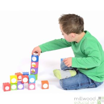 Textured Rainbow Blocks (Set of 16)