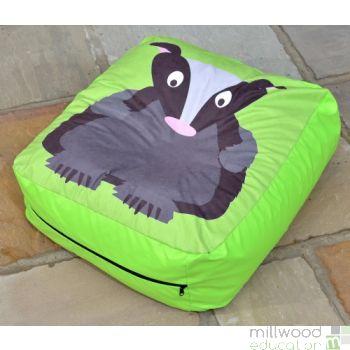 Woodland Bean Cushion BADGER
