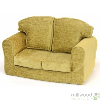 Loose Cover Sofa Lime Chenille