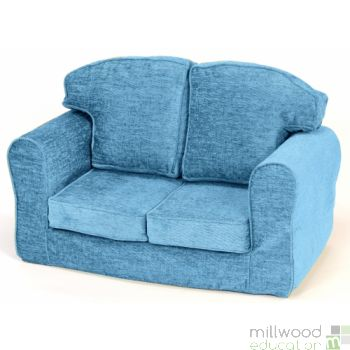 Loose Cover Sofa Teal Chenille
