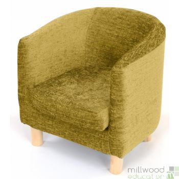 Tub Chair Lime Chenille