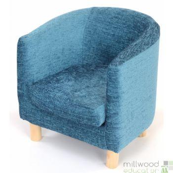 Tub Chair Teal Chenille