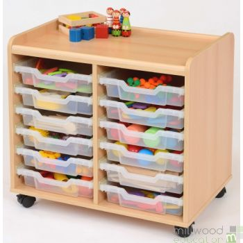 TTS 12 Shallow Tray Storage Unit with Clear Trays