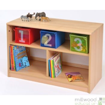RS Open Bookcase with Mirror Panel