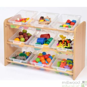 RS Classroom Tidy with 9 Clear Trays
