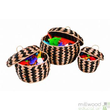 Woven Zebra Pots