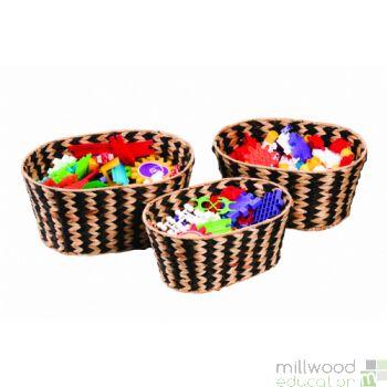 Woven Zebra Baskets