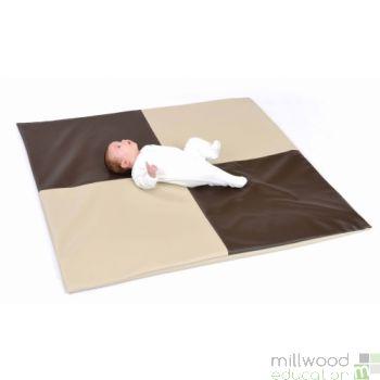 Padded Floor Mat Choc & Beige