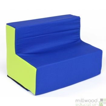 Toddler Sofa Blue/Lime