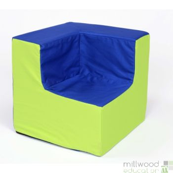 Toddler Corner Chair Blue/Lime