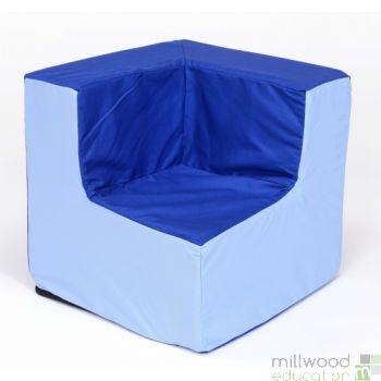 Toddler Corner Chair Blue/Blue
