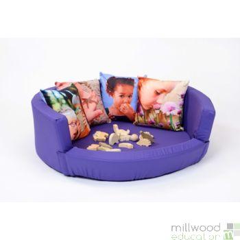 Snuggly Den - Purple Cotton