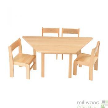 Beech Trapezoidal Table - 40cmH