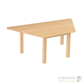Beech Trapezoidal table  - 46.5cmH