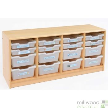 RS 8 Deep, 8 Shallow Clear Tray Storage Unit
