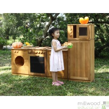 Outdoor Wooden Kitchen Set