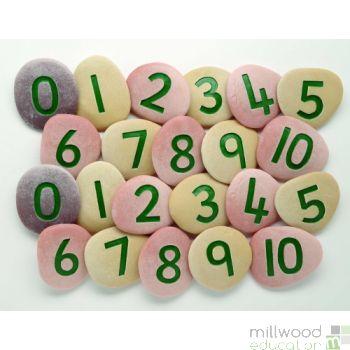 Jumbo Number Pebbles (Set of 22)