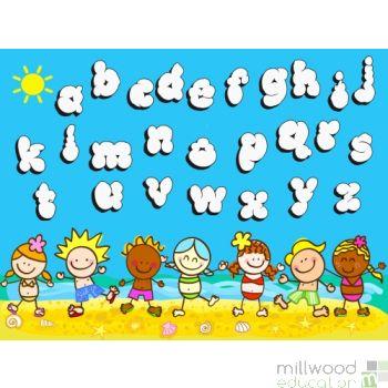 Supergiant Alphabet Beach Party Playmat