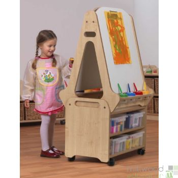 Easel and Storage Trolley