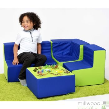 Pre School Furniture Set Blue/Lime