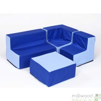 Pre School Furniture Set Blue/Blue