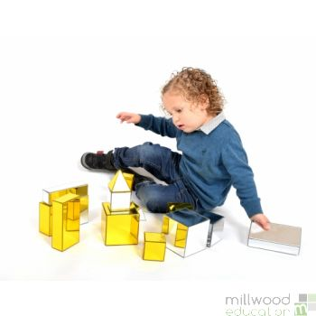 Metallic Building Blocks (Set of 12)