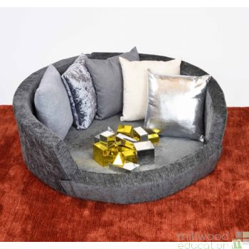 Snuggly Den - Grey Chenille