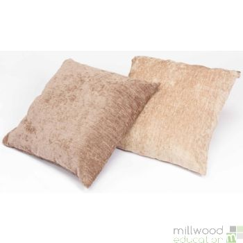 Large Floor Cushion - Caramel & Cream