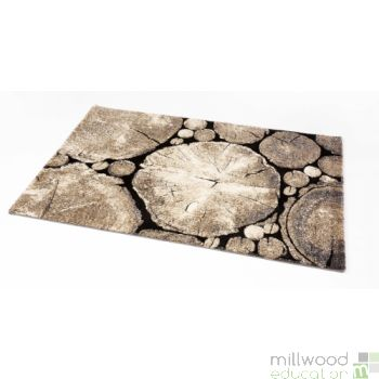 Natural Rug - Logs Small