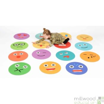 Placement mats emoticons set of 15