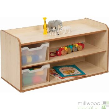 Mini and Toddle 2 Tray & Shelves Clear Trays