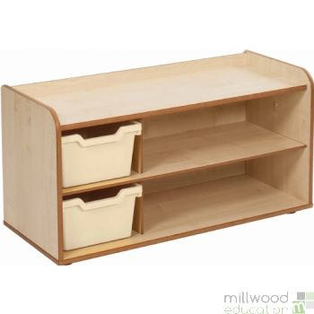 Mini and Toddle 2 Tray & Shelves Magnolia Trays