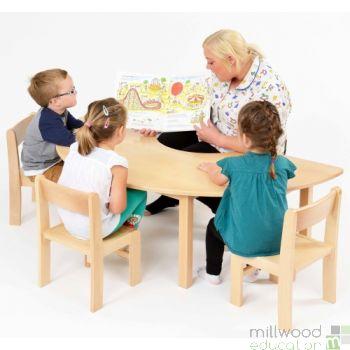 Beech Teacher Table 46.5cm H