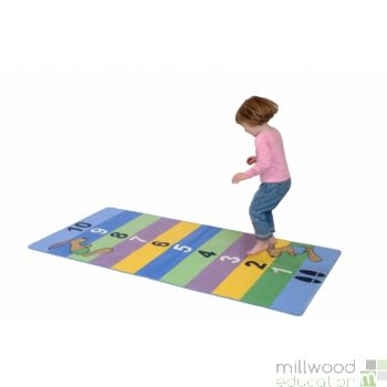 Hopping Hare Standing Jump Rug