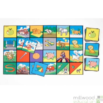 Alphabet Picture Playmat and Tiles Set