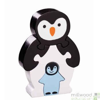 Shaped Block Puzzle Penguin