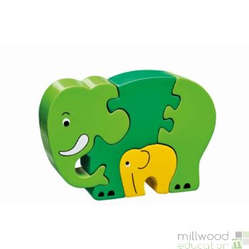 Shaped Block Puzzle Elephant