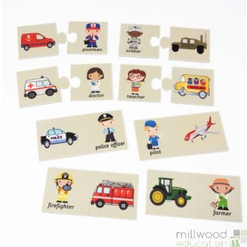 Chunky Two-Piece Puzzles Occupations