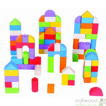 Coloured Click Building Blocks