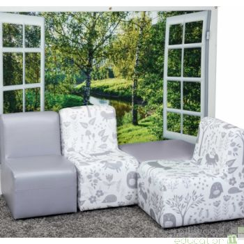 Woodland Wipe Clean Modular Set - Grey
