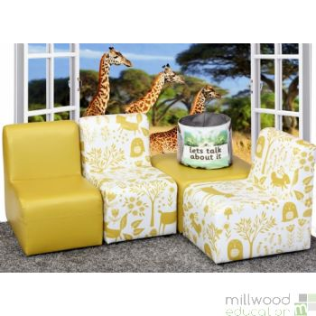 Woodland Wipe Clean Modular Set - Mustard