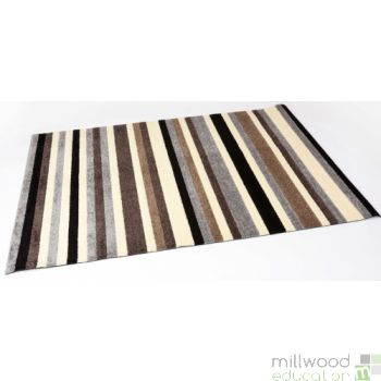 Stripy Tufty Rug - Natural