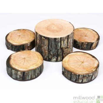 Tree Stump Seating Set