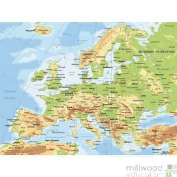 Europe Map Wallboard